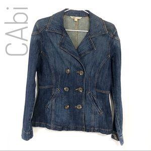 CAbi double breasted jean jacket blazer - denim S